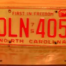 1977 North Carolina License Plate NC #DLN-405