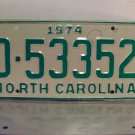 1974 North Carolina Mint YOM Trailer License Plate NC D-53352