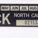 1985 North Carolina NC NOS Farm Truck License Plate Validation Sticker
