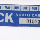 1982 North Carolina NC NOS Farm Truck License Plate Validation Sticker