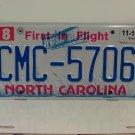 2016 North Carolina License Plate NC CMC-5706
