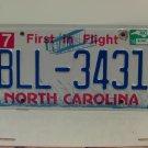 2014 North Carolina License Plate NC #BLL-3431