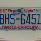 2014 North Carolina License Plate NC #BHS-6451