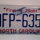 2016 North Carolina License Plate NC DFP-6358