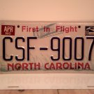 1990 North Carolina NC First in Flight License Plate CSF-9007