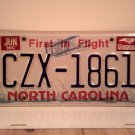 1992 North Carolina NC First in Flight License Plate CZX-1861