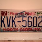 1998 North Carolina NC First in Flight License Plate KVK-5602 EX