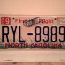 2005 North Carolina NC First in Flight License Plate RYL-8989