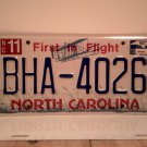 2013 North Carolina NC First in Flight License Plate BHA-4026 EX