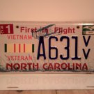 2010 North Carolina NC Vietnam Veteran License Plate A631VV EX