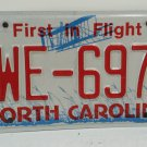 2015 North Carolina License Plate NC YWE-6973