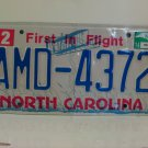2014 North Carolina License Plate NC AMD-4372