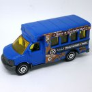 2018 Matchbox #18 GMC School Bus in Blue Mint on Card