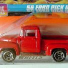1998 Matchbox #35 '56 Ford Pickup in Red Mint on Card