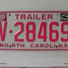1986 North Carolina NC Trailer License Plate V-28469