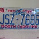 1998 North Carolina NC License Plate #JSZ-7686