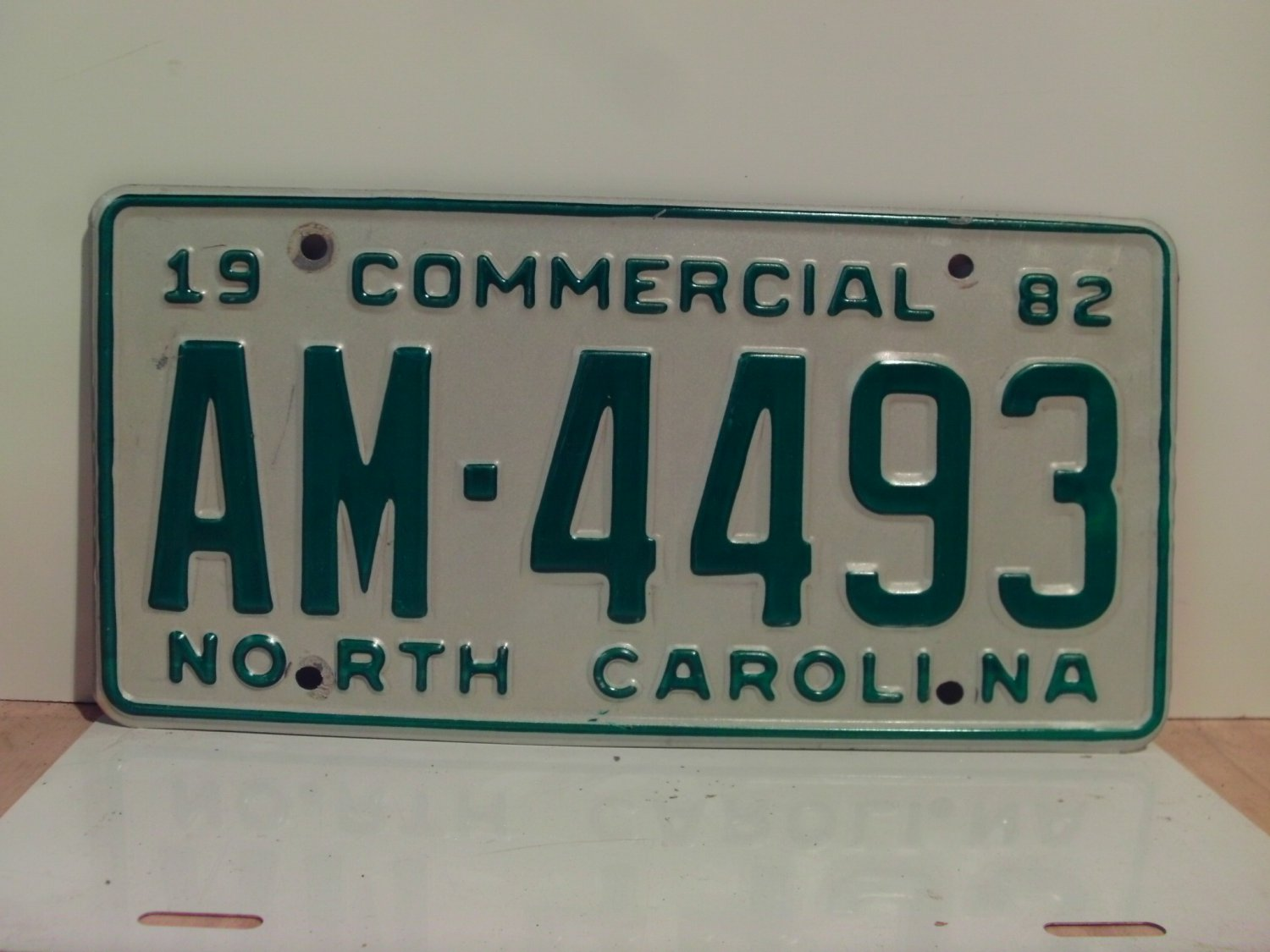 1982 North Carolina Truck YOM License Plate EX NC AM-4493