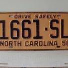 1958 North Carolina NC Truck License Plate 1661-SL