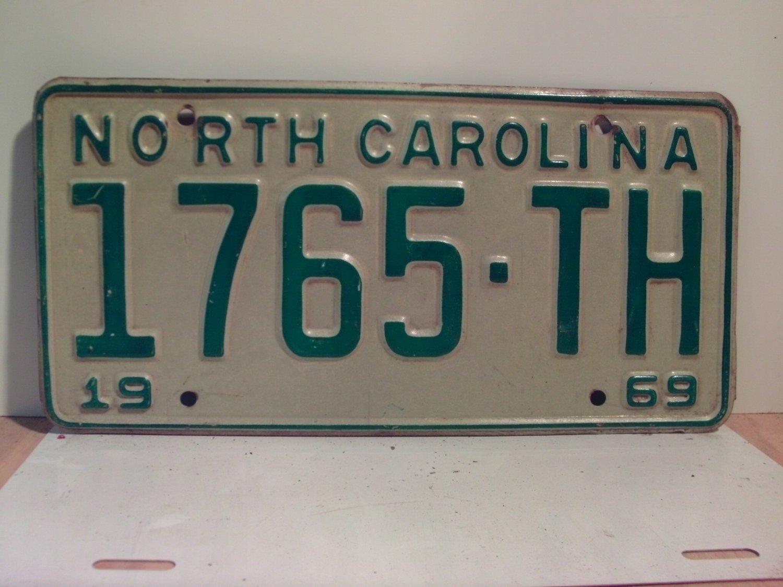 1969 North Carolina NC Truck License Plate 1765-TH VG