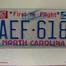 1983 North Carolina NC Passenger YOM License Plate AEF-618 Excellent!