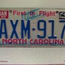 1986 North Carolina NC Passenger License Plate AXM-917 VG-XH