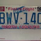 1986 North Carolina NC Passenger License Plate BWV-140 VG