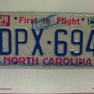 1985 North Carolina NC Passenger License Plate DPX-694 VG-XH