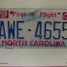 1987 North Carolina NC Passenger License Plate AWE-4655 VG