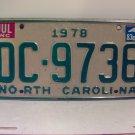 1983 North Carolina NC Truck License Plate DC-9736 VG