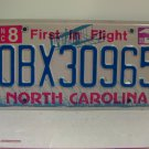 2009 North Carolina NC Outer Banks OBX License Plate OBX30965 EX