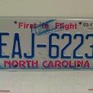 2017 North Carolina License Plate NC EAJ-6223