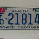 2010 North Carolina NC Franchised Dealer License Plate FD-21814
