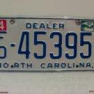 2010 North Carolina NC Franchised Dealer License Plate FD-45395