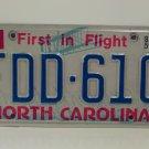 1985 North Carolina NC EX YOM Passenger License Plate FDD-610