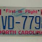 1989 North Carolina NC First in Flight License Plate AVD-7798