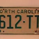 1969 North Carolina NC Truck License Plate 612-TT VG