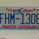 2019 North Carolina License Plate NC FHM-1308