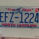 2017 North Carolina License Plate NC EFZ-1224