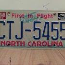 1991 North Carolina License Plate Tag NC CTJ-5455
