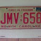 1976 North Carolina NC Passenger YOM License Plate JMV-658 VG