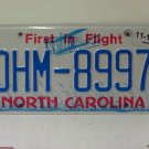 2017 North Carolina License Plate NC DHM-8997