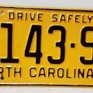1956 North Carolina Truck Rat Rod License Plate Tag NC #6143-SJ YOM