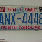 1986 North Carolina License Plate NC ANX-4448 VG