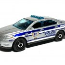 2020 Matchbox #28 Ford Police Interceptor in Silver Mint on Card