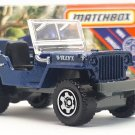 2020 Matchbox #68 Jeep Willys in Blue Mint on Card