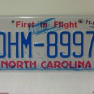 2017 North Carolina License Plate NC DHM-8997