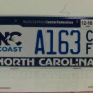 2018 North Carolina Coastal Federation License Plate NC A163CF EX-N
