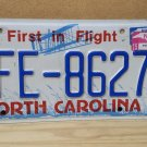 2015 North Carolina License Plate NC BFE-8627