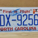 "2016 North Carolina License Plate NC EDX-9256 ""T"" Sticker"