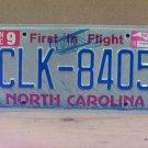 2015 North Carolina License Plate Tag NC #CLK-8405 LTQ